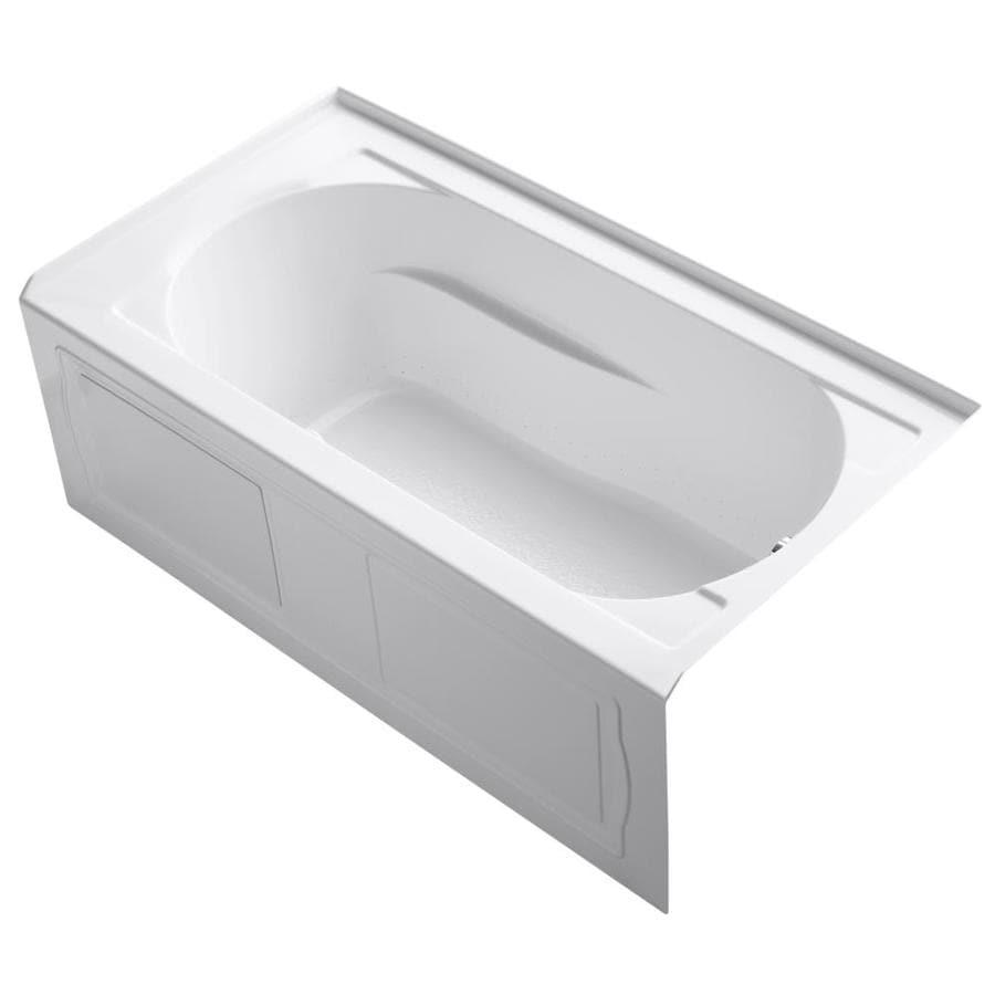 KOHLER Devonshire 60-in L x 32-in W x 21.25-in H White Acrylic Oval In Rectangle Alcove Air Bath