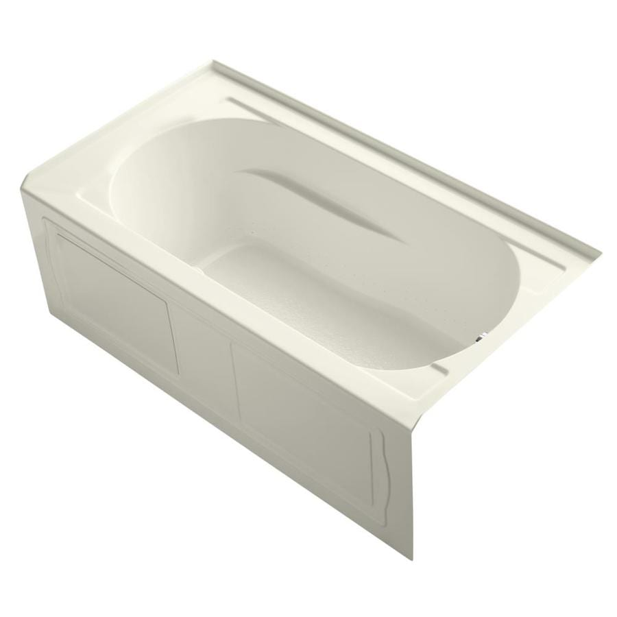 KOHLER Devonshire 60-in L x 32-in W x 21.25-in H Biscuit Acrylic Oval In Rectangle Alcove Air Bath