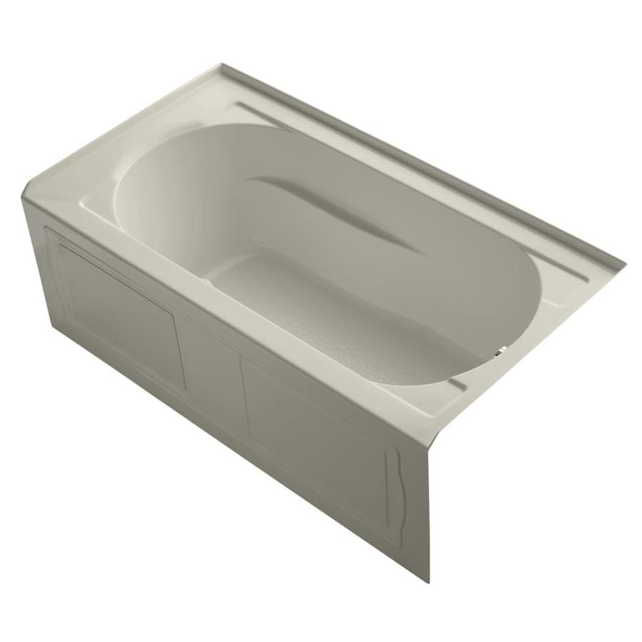KOHLER Devonshire 60-in Sandbar Acrylic Alcove Air Bath with Right-Hand Drain