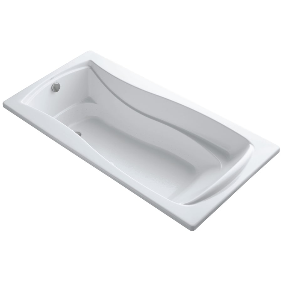 KOHLER Mariposa 72-in L x 36-in W x 20-in H White Acrylic Hourglass In Rectangle Drop-in Air Bath