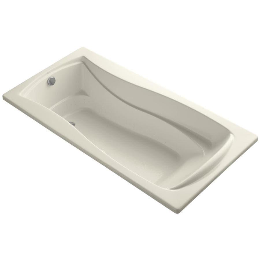KOHLER Mariposa 72-in Sandbar Acrylic Drop-In Air Bath with Reversible Drain