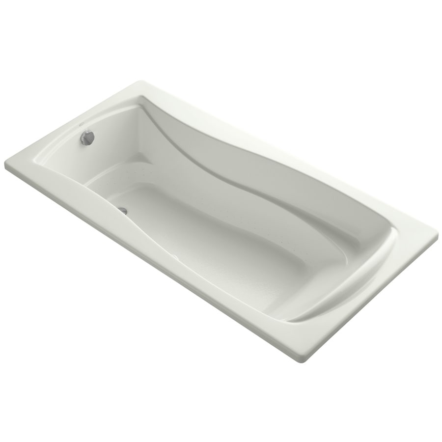 KOHLER Mariposa 72-in Dune Acrylic Drop-In Air Bath with Reversible Drain