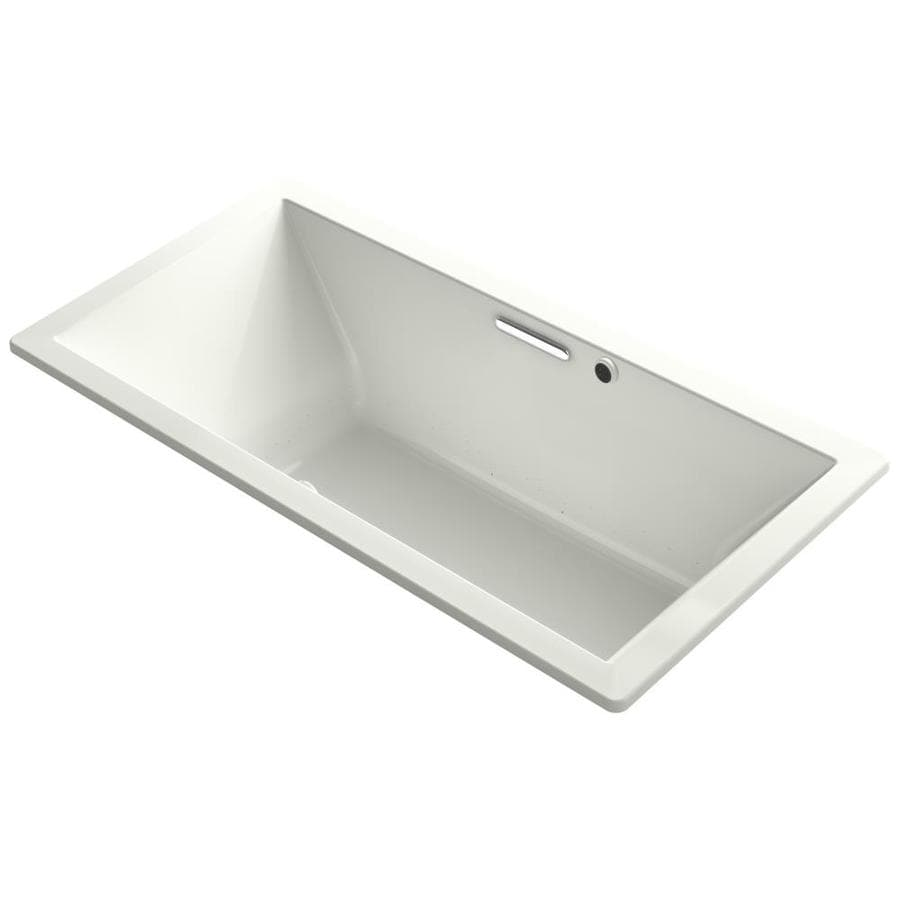 KOHLER Underscore 72-in L x 36-in W x 23-in H Dune Acrylic Rectangular Drop-in Air Bath