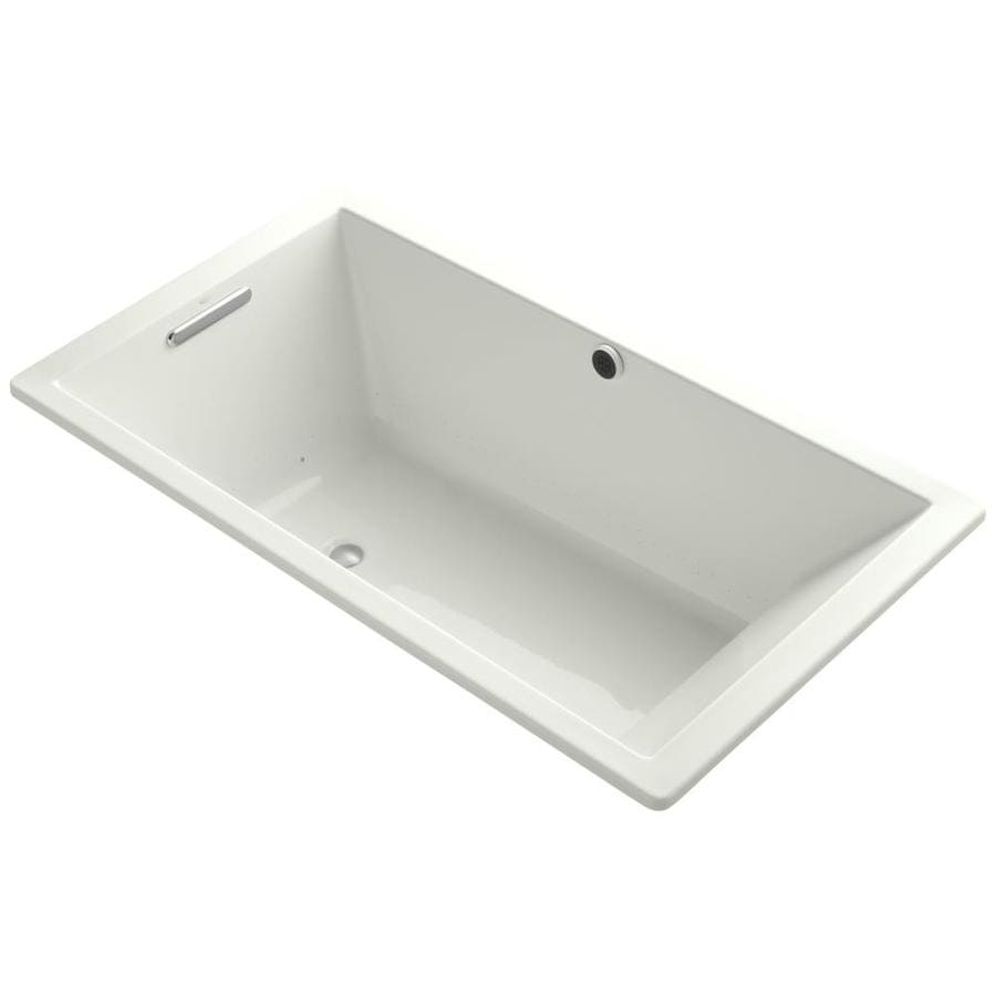 KOHLER Underscore 66-in Dune Acrylic Drop-In Air Bath with Reversible Drain