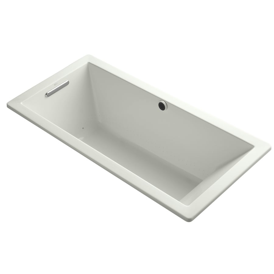 KOHLER Underscore 66-in L x 32-in W x 22-in H Dune Acrylic Rectangular Drop-in Air Bath