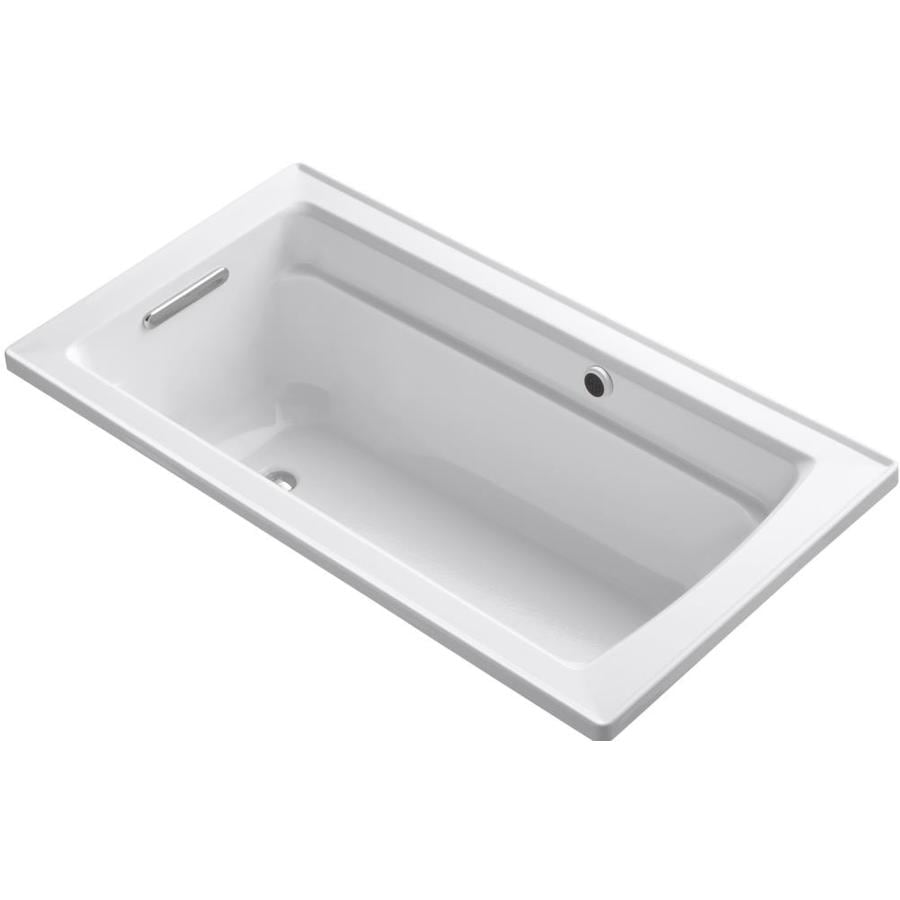 KOHLER Archer White Acrylic Rectangular Alcove Bathtub with Right-Hand Drain (Common: 32-in x 60-in; Actual: 19-in x 32-in x 60-in)