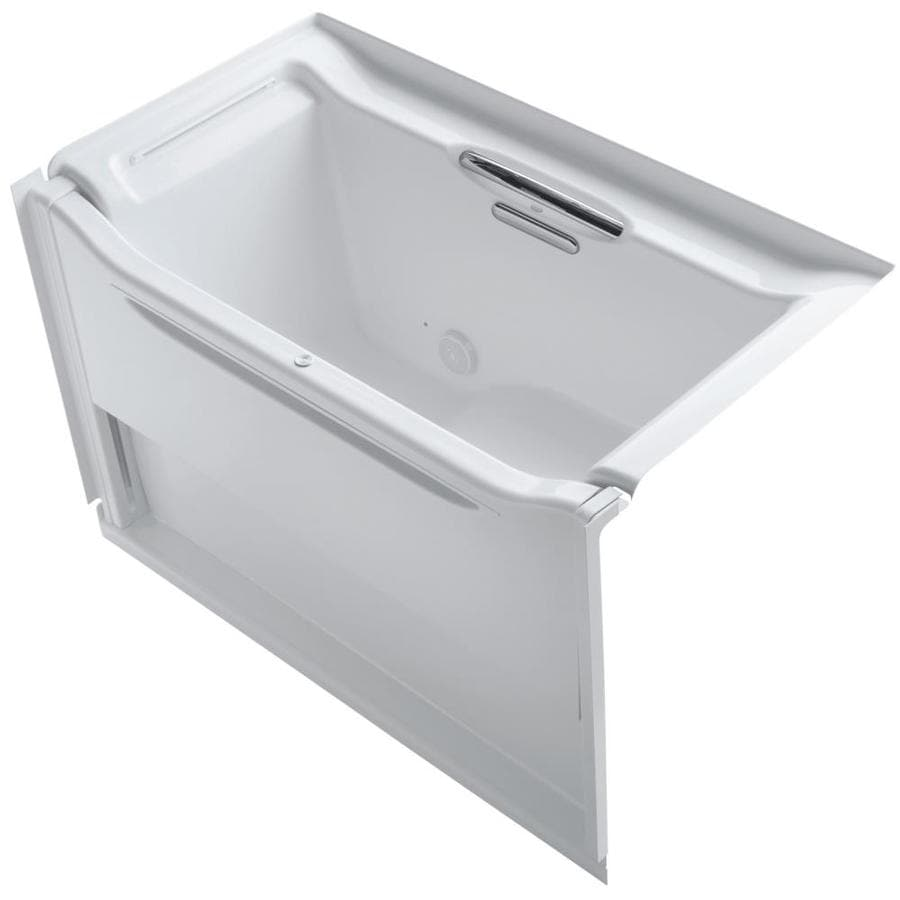 KOHLER Elevance White Acrylic Rectangular Alcove Bathtub with Left-Hand Drain (Common: 34-in x 61-in; Actual: 39.25-in x 33.5-in x 60.25-in)