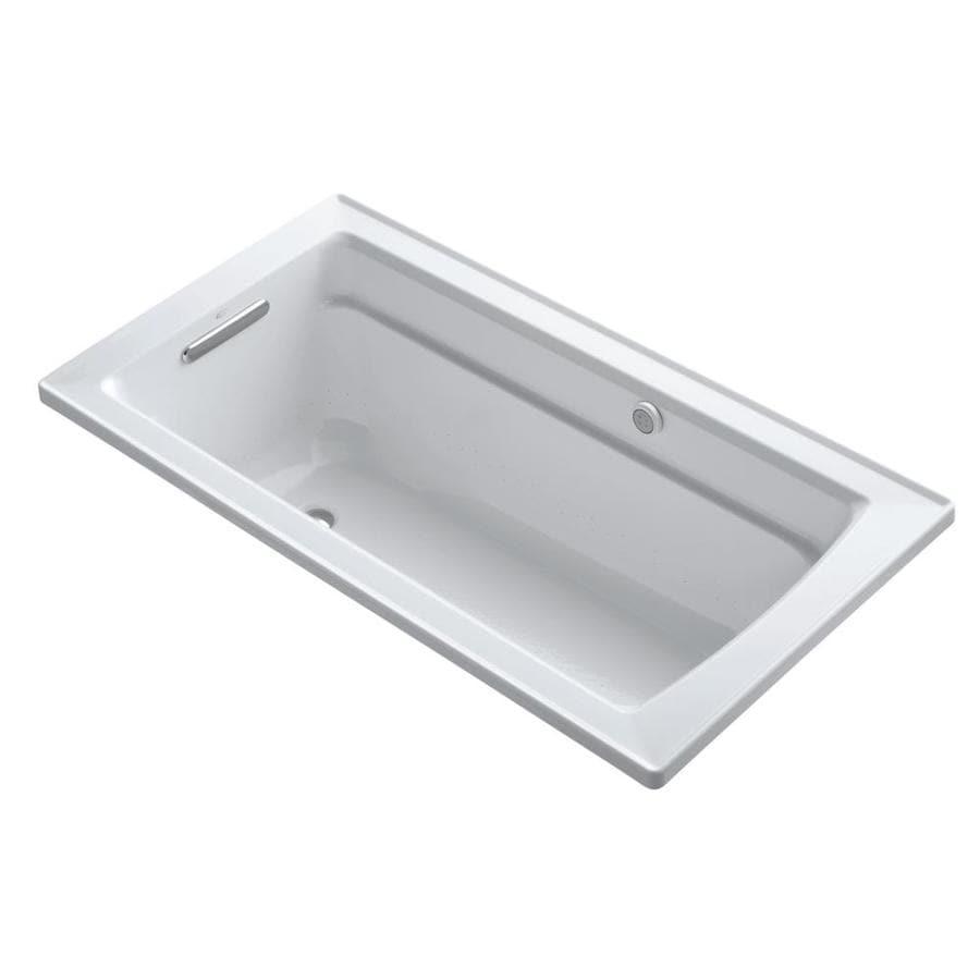 KOHLER Archer 60-in L x 32-in W x 20.25-in H Dune Acrylic Rectangular Alcove Air Bath