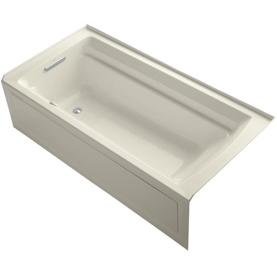 KOHLER Archer 72-in L x 36-in W x 20.25-in H Acrylic Rectangular Alcove Air Bath