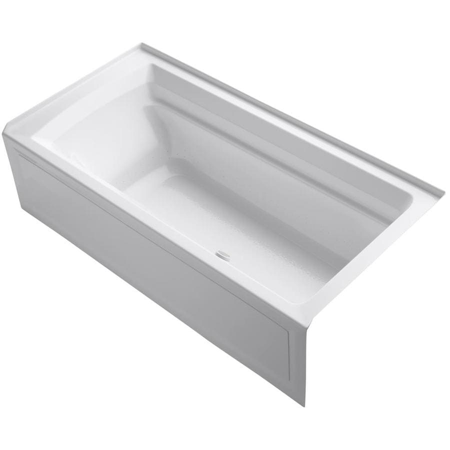 KOHLER Archer 72-in Dune Acrylic Alcove Air Bath with Right-Hand Drain