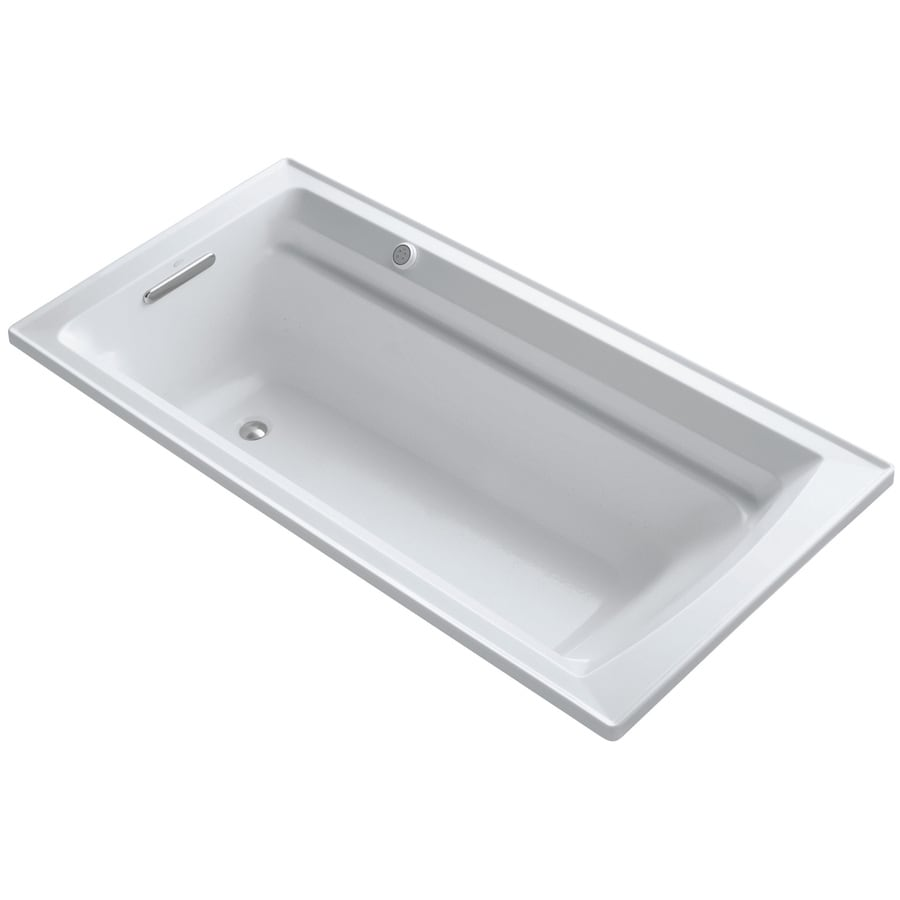 KOHLER Archer 72-in L x 36-in W x 20.25-in H White Acrylic Rectangular Alcove Air Bath