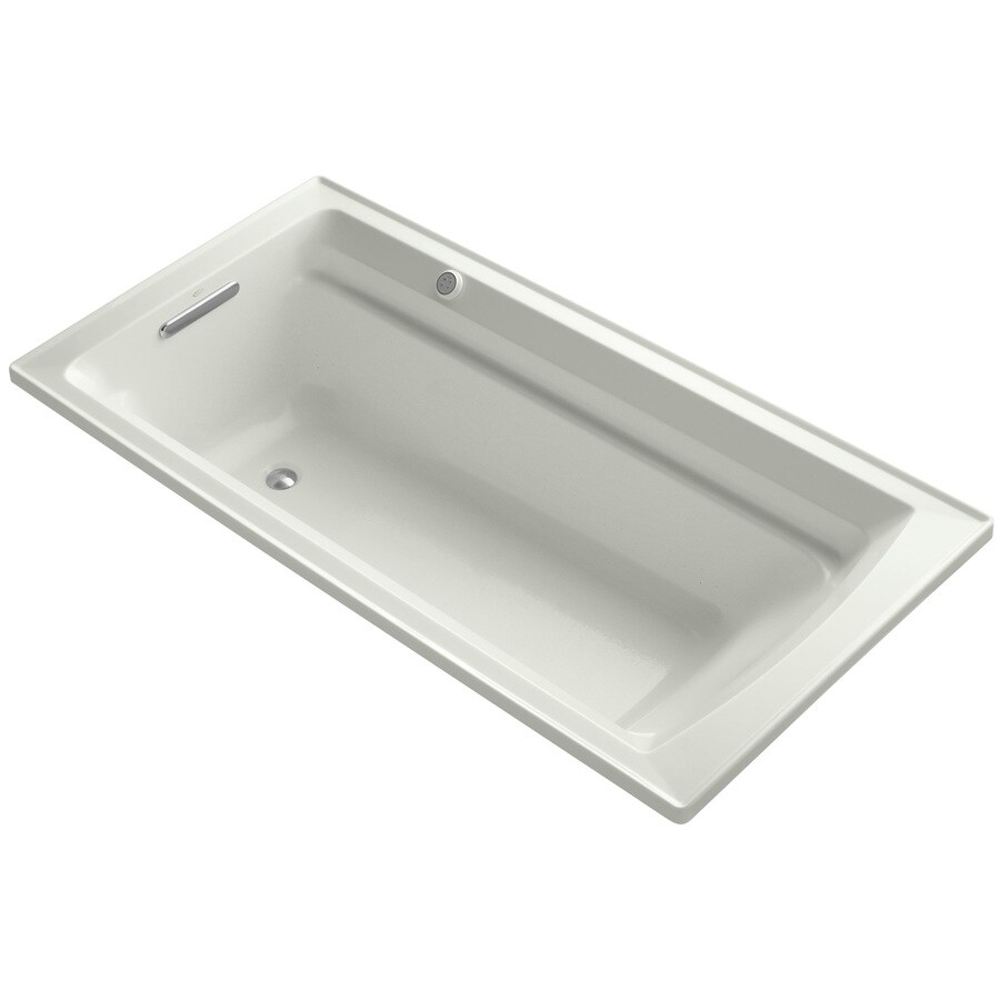 KOHLER Archer 72-in L x 36-in W x 20.25-in H Dune Acrylic Rectangular Alcove Air Bath