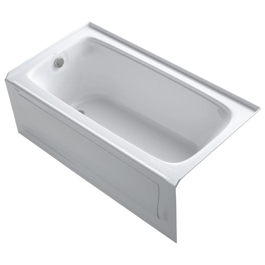 KOHLER Bancroft 60-in White Acrylic Alcove Air Bath with Left-Hand Drain