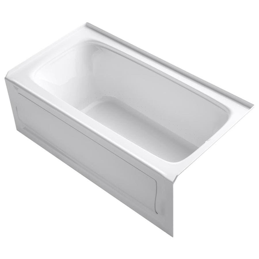KOHLER Bancroft 60-in White Acrylic Alcove Air Bath with Right-Hand Drain