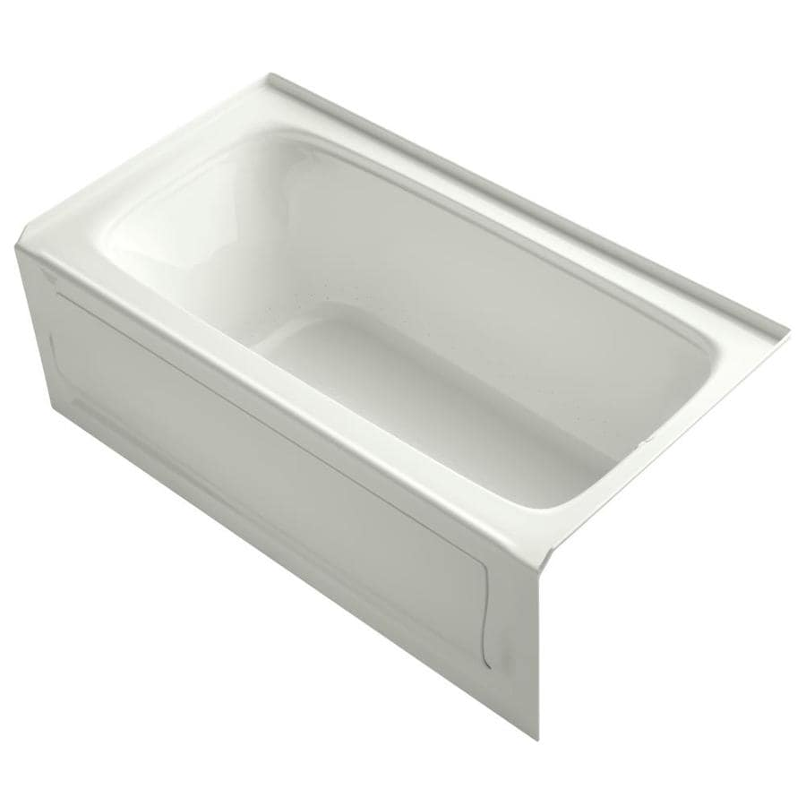 KOHLER Bancroft 60-in Dune Acrylic Alcove Air Bath with Right-Hand Drain