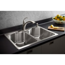 Kohler Octave 33 In X 22 In Stainless Steel Double Basin