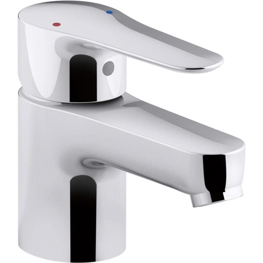KOHLER July Polished Chrome 1-Handle Single Hole Bathroom Faucet (Drain Included)