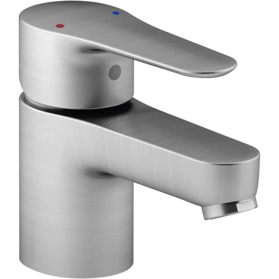 KOHLER July Brushed Chrome 1-Handle Single Hole Bathroom Faucet (Drain Included)