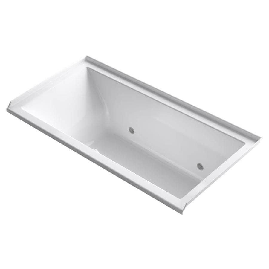 KOHLER Underscore 60-in L x 30-in W x 20.25-in H White Acrylic Rectangular Alcove Air Bath