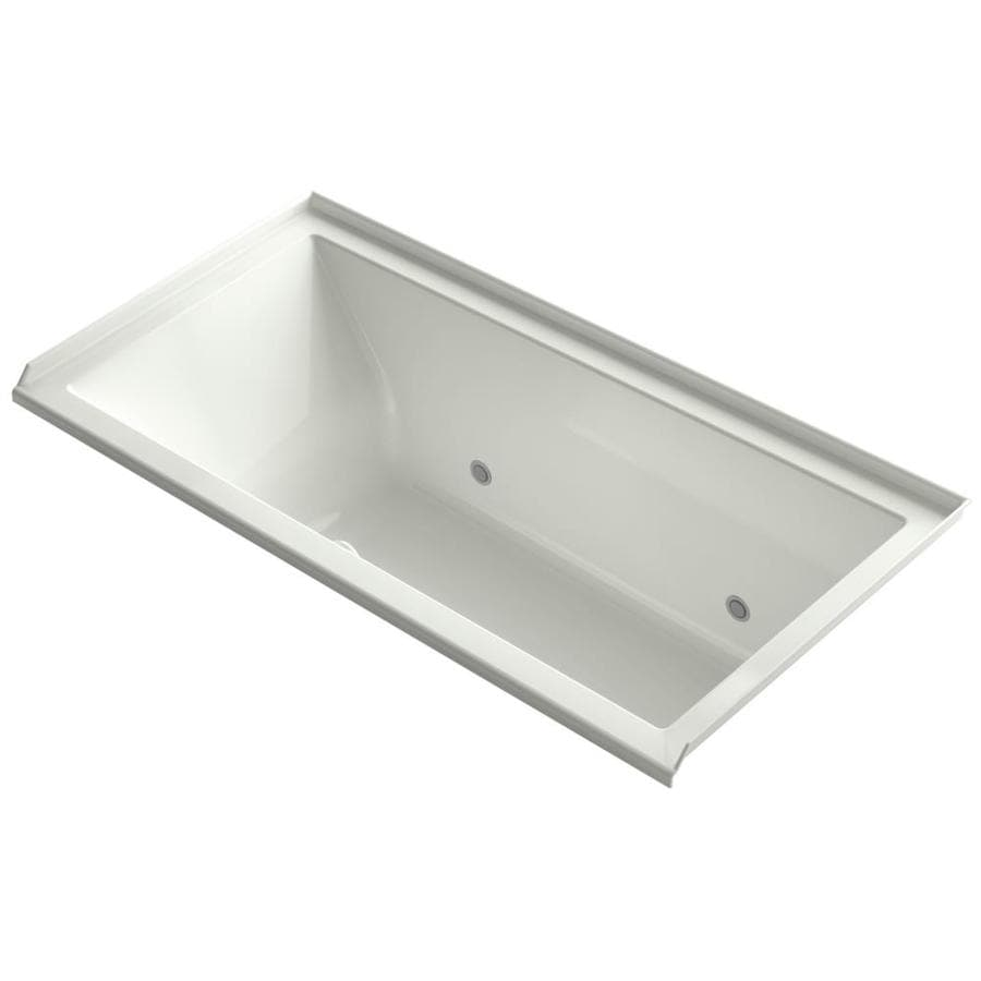 KOHLER Underscore 60-in Dune Acrylic Alcove Air Bath with Right-Hand Drain