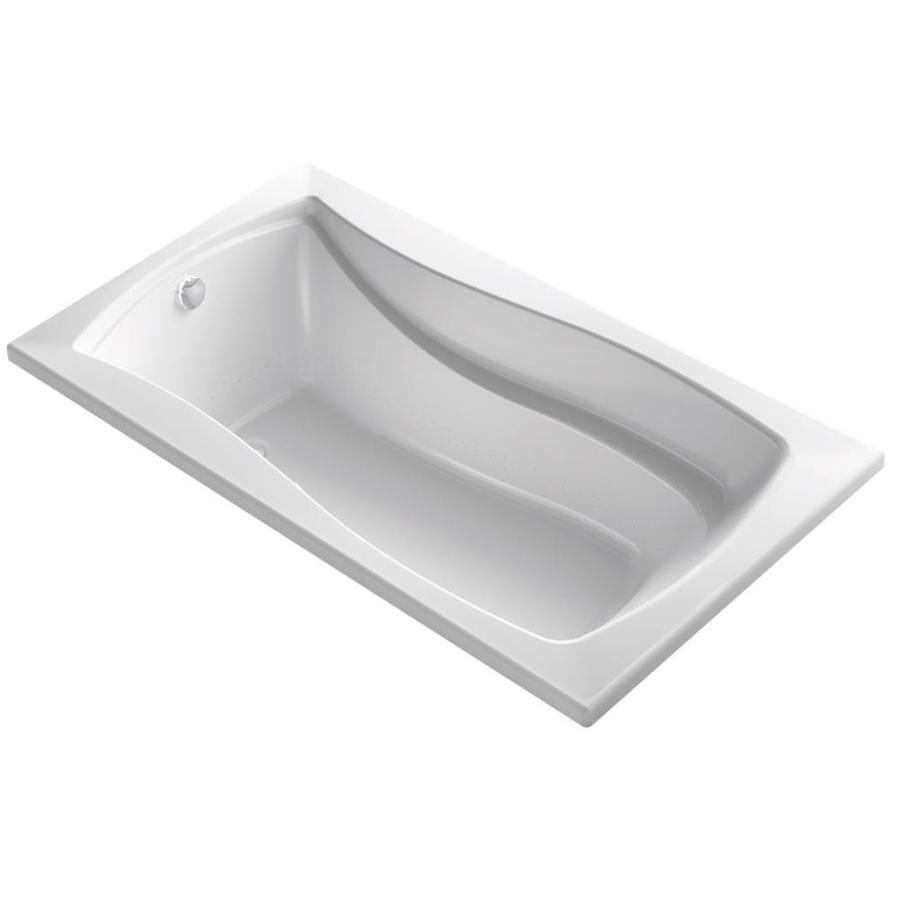 KOHLER Mariposa 66-in White Acrylic Drop-In Air Bath with Reversible Drain