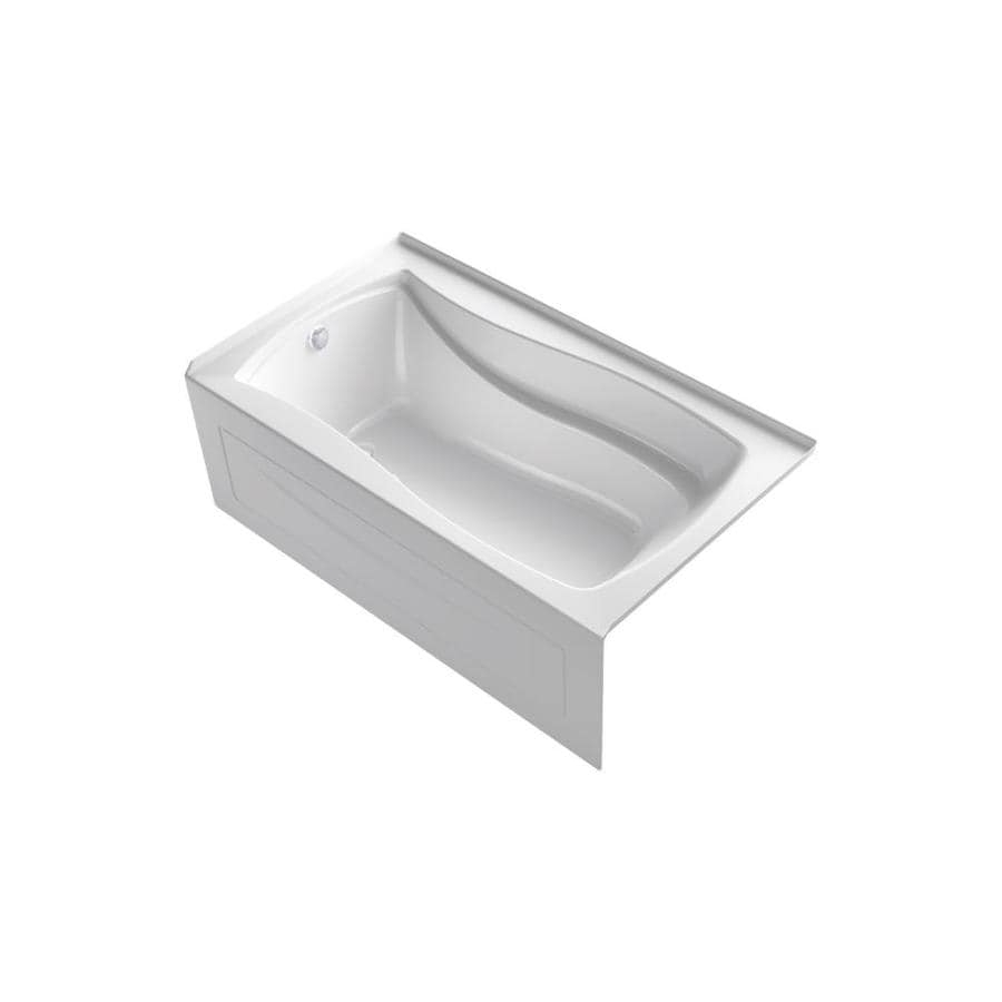 KOHLER Mariposa 66-in White Acrylic Freestanding Air Bath with Right-Hand Drain