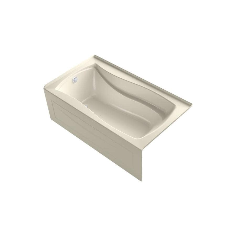 KOHLER Mariposa 66-in L x 36-in W x 20-in H Almond Acrylic Hourglass In Rectangle Freestanding Air Bath
