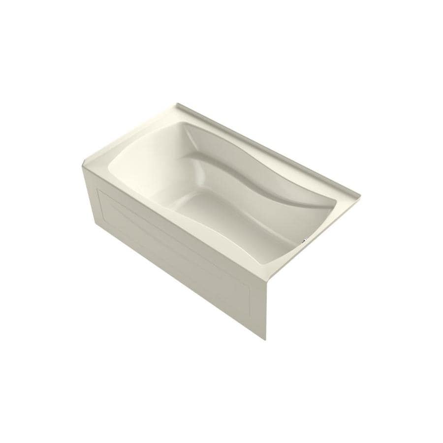 KOHLER Mariposa 66-in Biscuit Acrylic Freestanding Air Bath with Right-Hand Drain