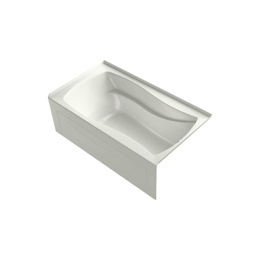 KOHLER Mariposa 66-in L x 36-in W x 20-in H Dune Acrylic Hourglass In Rectangle Freestanding Air Bath