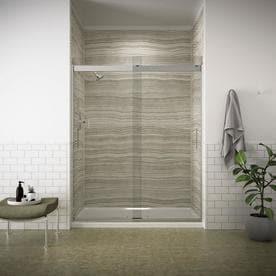 Shop Sliding Shower Door Shower Doors At Lowescom - Lowes bathroom shower enclosures