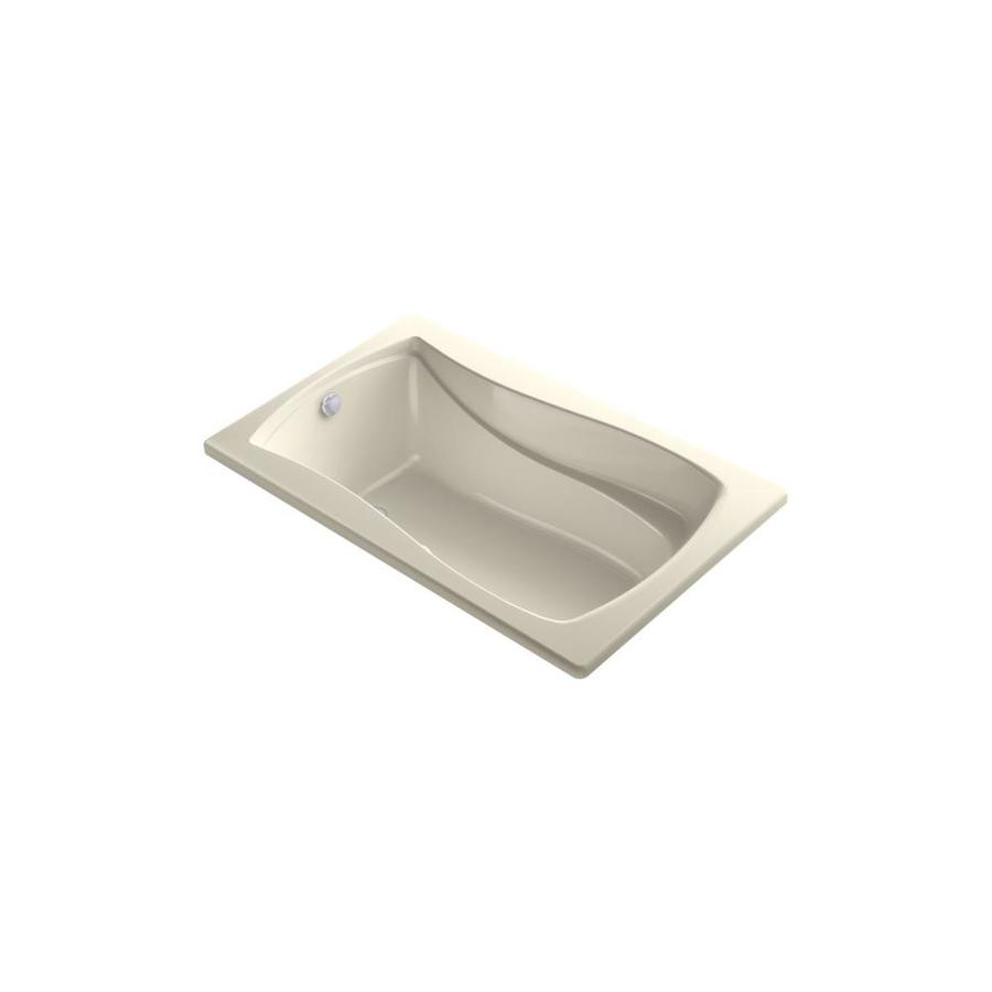 KOHLER Mariposa 60-in White Acrylic Drop-In Air Bath with Reversible Drain