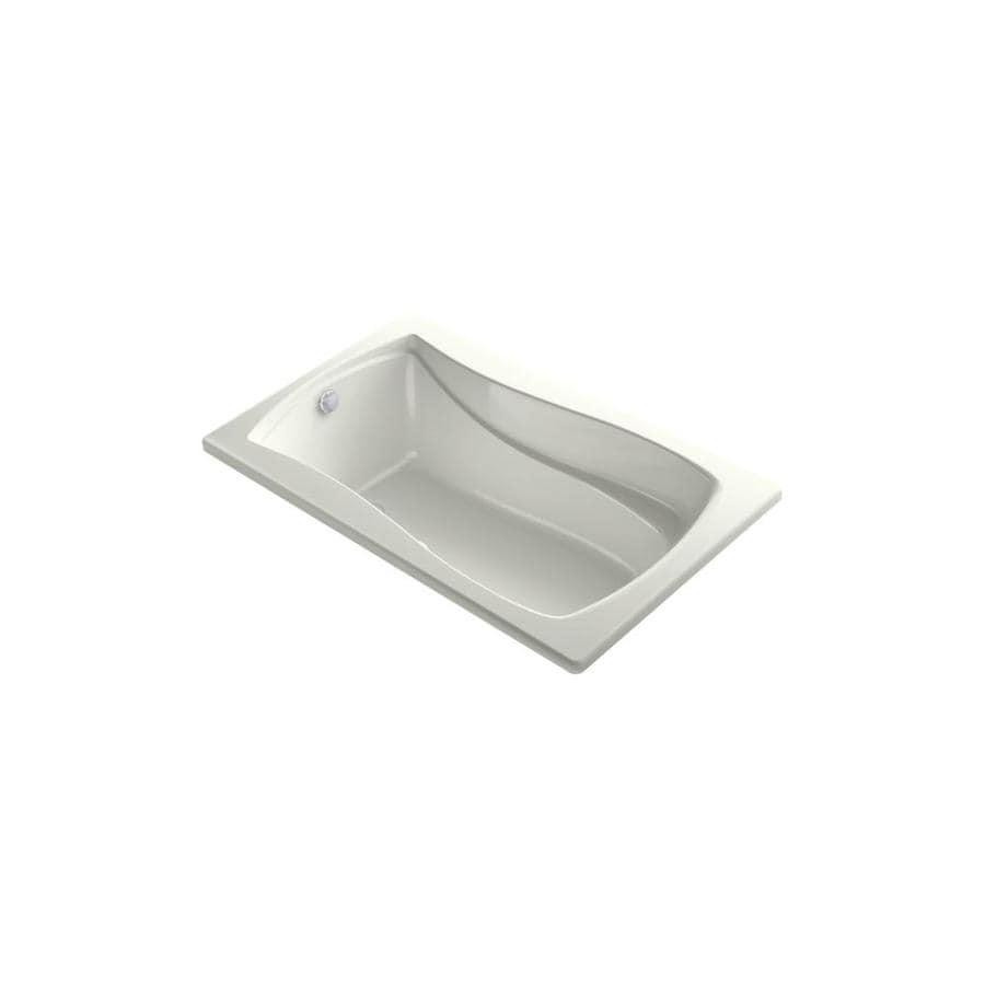 KOHLER Mariposa 60-in L x 35.875-in W x 20-in H Dune Acrylic Hourglass In Rectangle Drop-in Air Bath