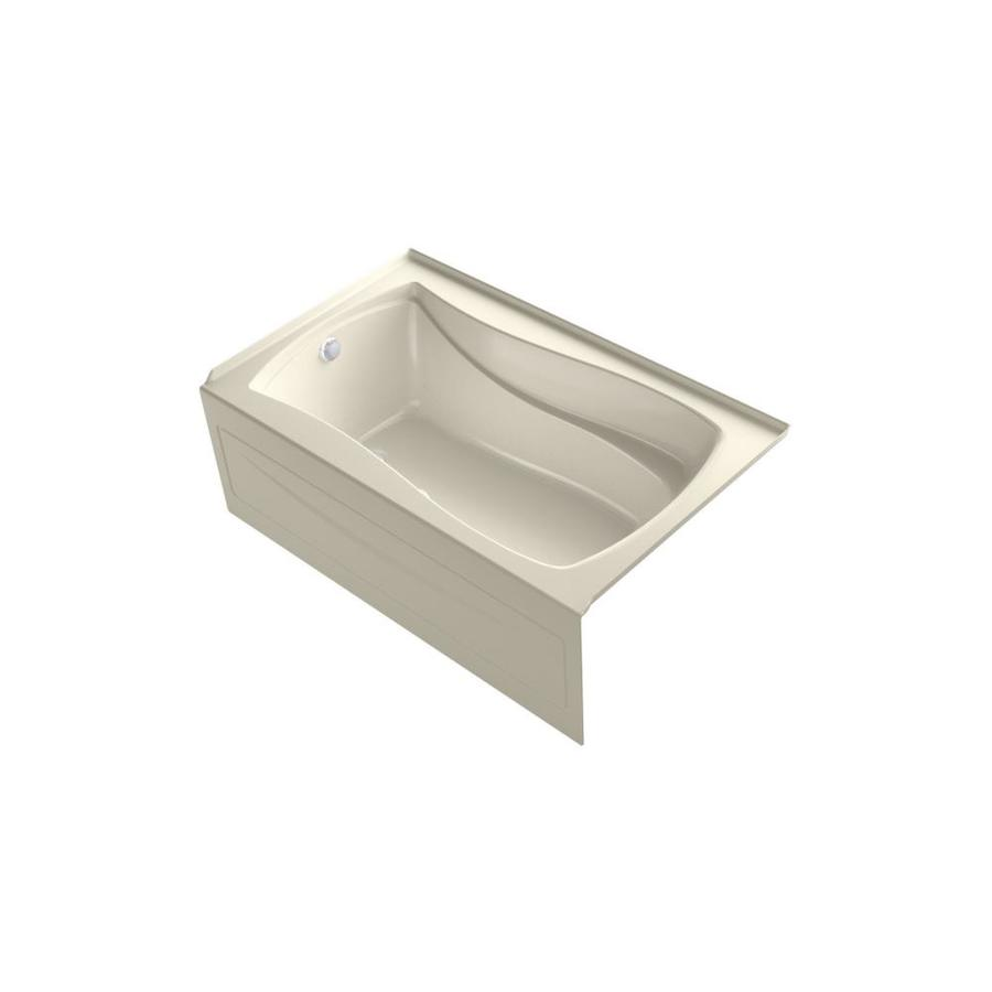 KOHLER Mariposa 60-in Dune Acrylic Alcove Air Bath with Left-Hand Drain