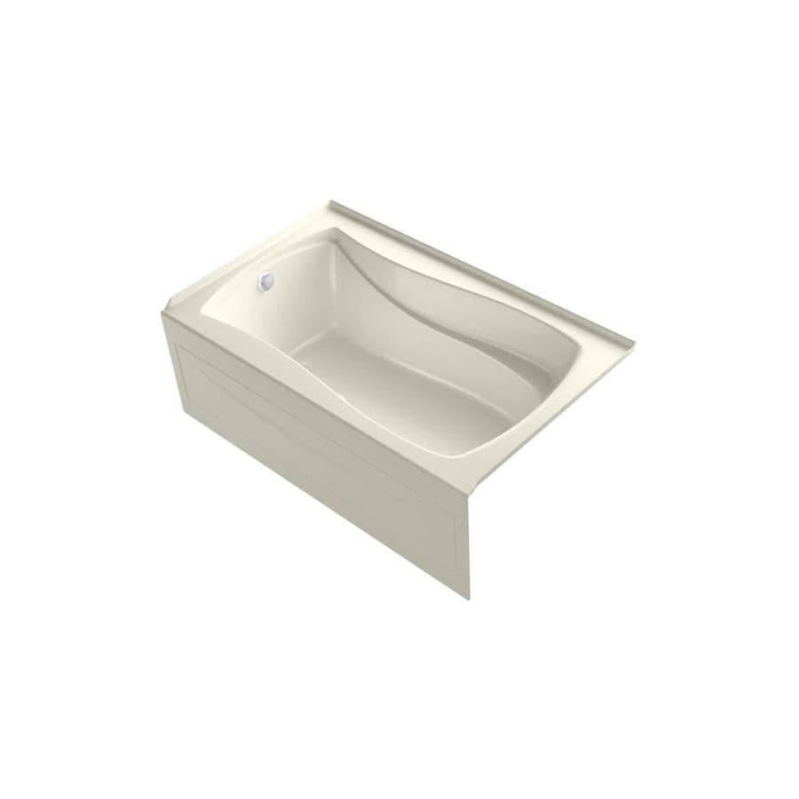 KOHLER Mariposa 60-in L x 36-in W x 20-in H Dune Acrylic Hourglass In Rectangle Alcove Air Bath