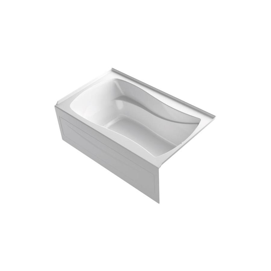 KOHLER Mariposa 60-in White Acrylic Freestanding Air Bath with Right-Hand Drain