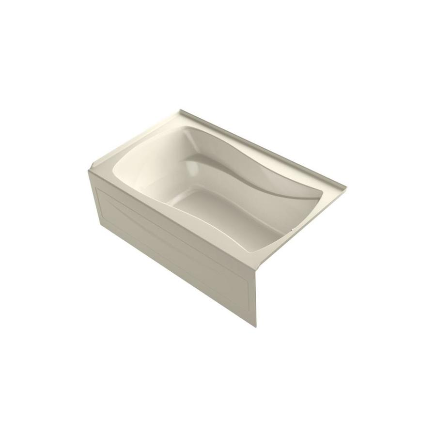 KOHLER Mariposa 60-in L x 36-in W x 20-in H Almond Acrylic Hourglass In Rectangle Freestanding Air Bath