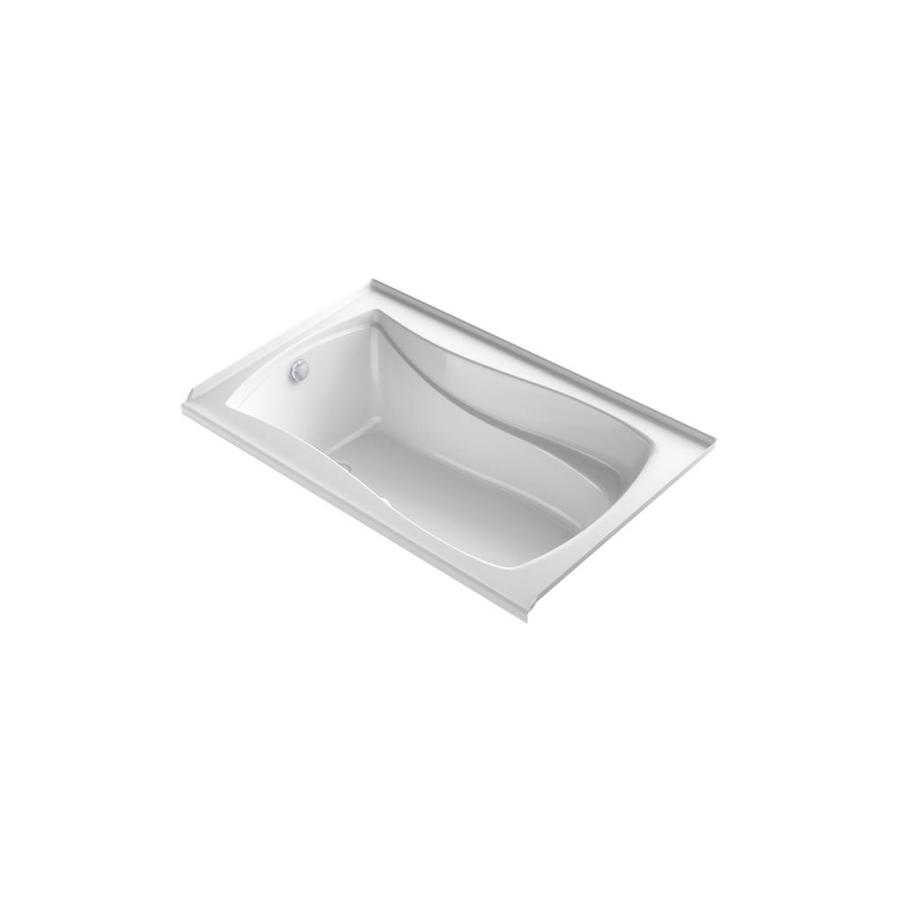 KOHLER Mariposa 60-in L x 36-in W x 20-in H White Acrylic Hourglass In Rectangle Alcove Air Bath