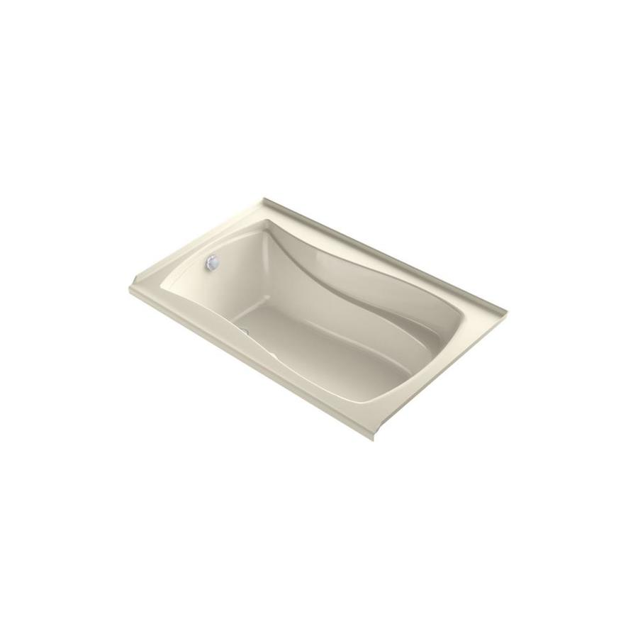 KOHLER Mariposa 60-in L x 36-in W x 20-in H Almond Acrylic Hourglass In Rectangle Alcove Air Bath