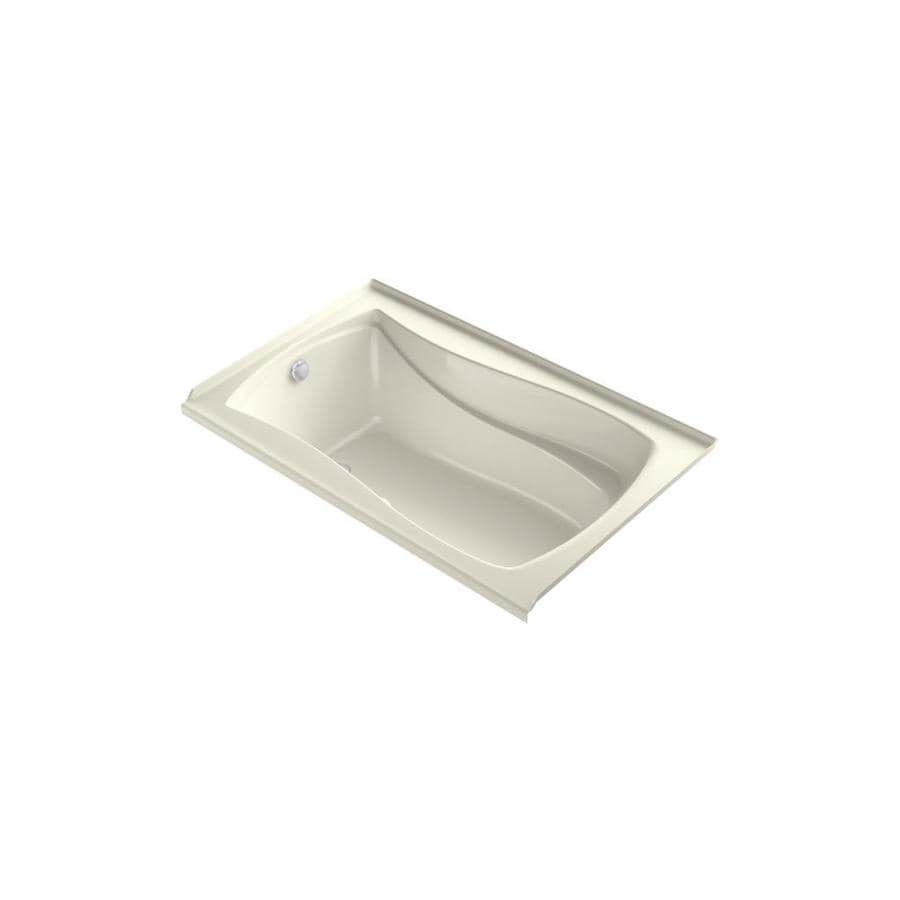 KOHLER Mariposa 60-in Sandbar Acrylic Alcove Air Bath with Left-Hand Drain