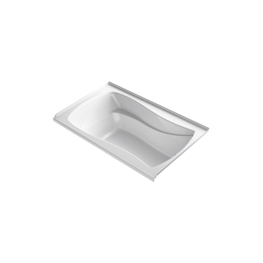 KOHLER Mariposa 60-in L x 35.875-in W x 20.25-in H White Acrylic Hourglass In Rectangle Freestanding Air Bath