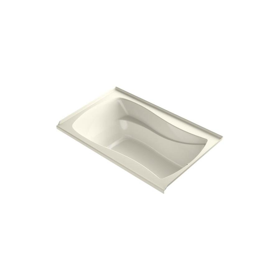 KOHLER Mariposa 60-in L x 35.875-in W x 20.25-in H Sandbar Acrylic Hourglass In Rectangle Freestanding Air Bath