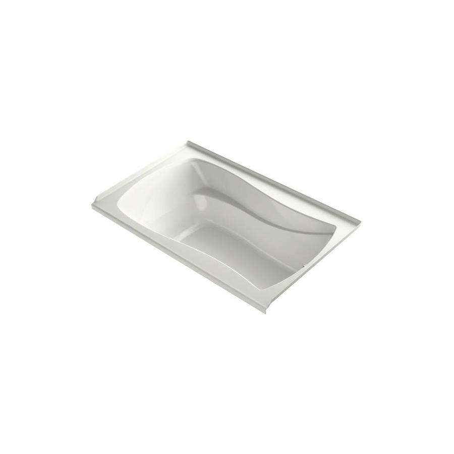 KOHLER Mariposa 60-in Dune Acrylic Freestanding Air Bath with Right-Hand Drain