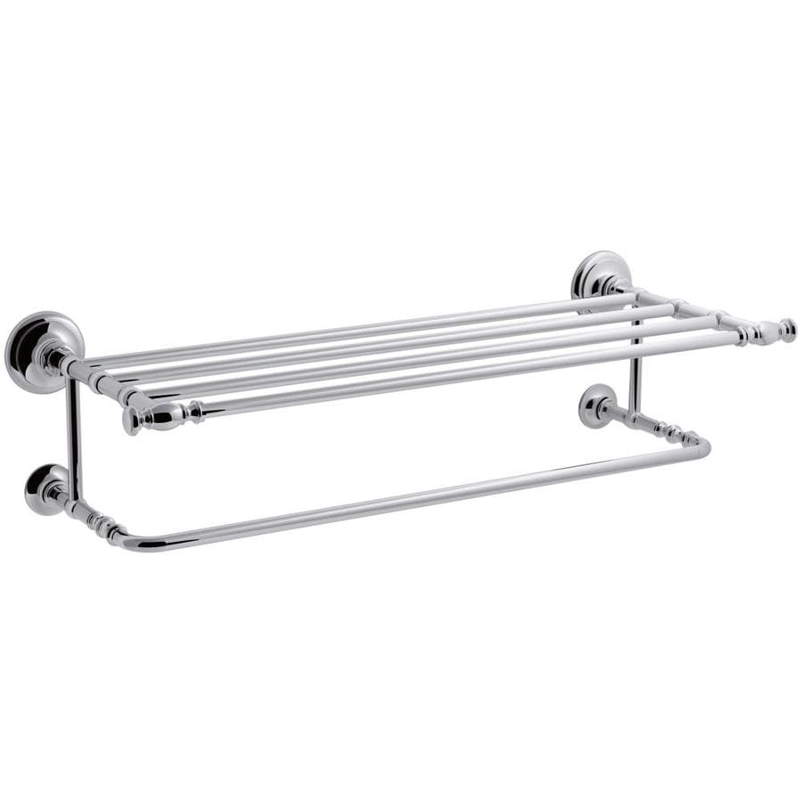 KOHLER Artifacts Polished Chrome Double Towel Bar (Common: 27-in; Actual: 27-in)