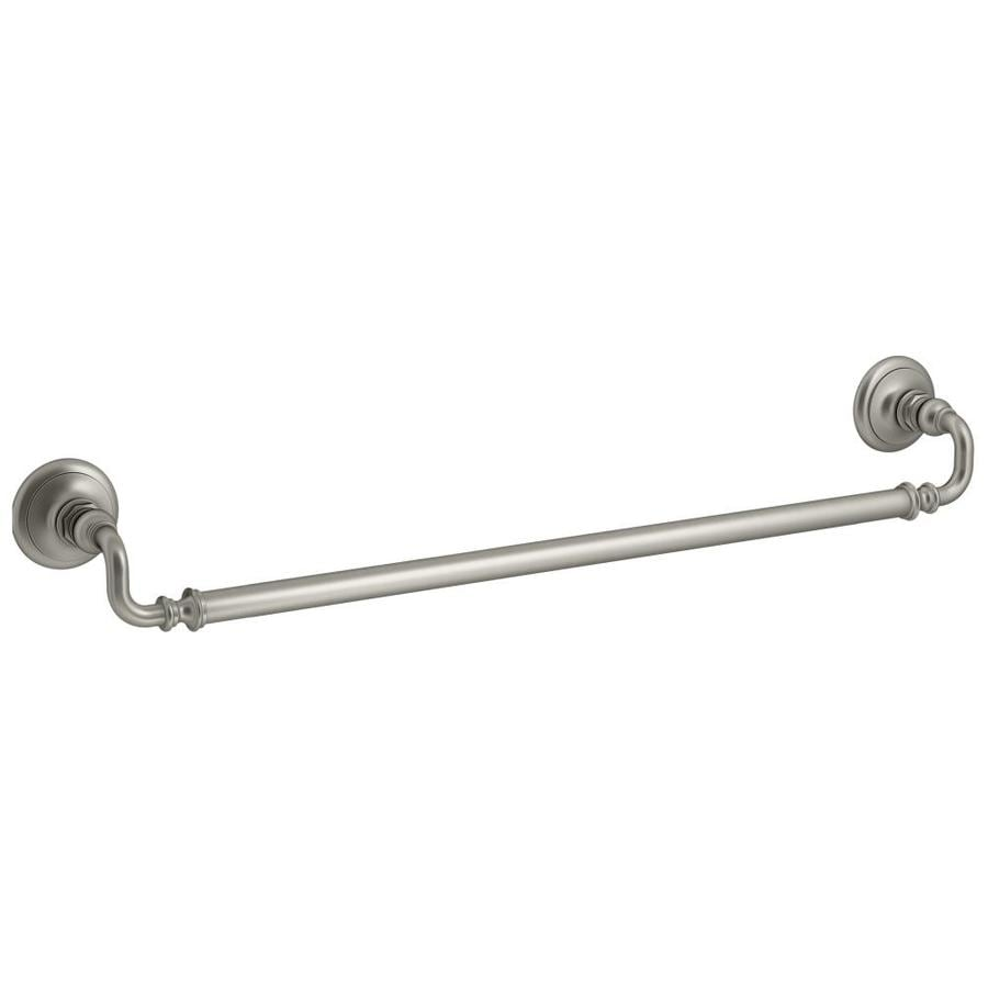 KOHLER Artifacts Vibrant Brushed Nickel Single Towel Bar (Common: 27-in; Actual: 27-in)