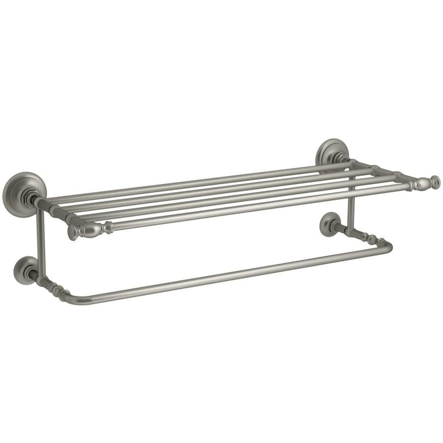shop kohler artifacts vibrant brushed nickel double towel bar common
