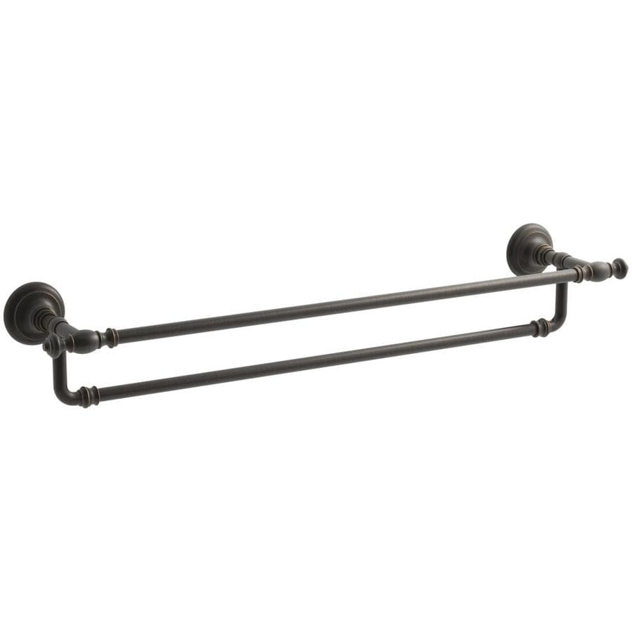 KOHLER Artifacts Oil-Rubbed Bronze Single Towel Bar (Common: 27-in; Actual: 27-in)