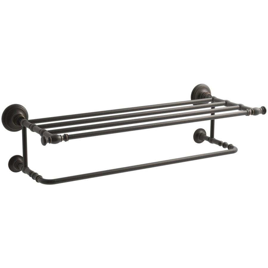 KOHLER Artifacts Oil-Rubbed Bronze Double Towel Bar (Common: 27-in; Actual: 27.0000-in)
