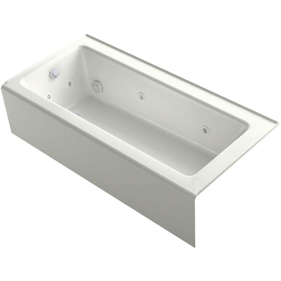 KOHLER Archer Dune Acrylic Rectangular Alcove Whirlpool Tub (Common: 32-in x 66-in; Actual: 16.5-in x 32-in x 66-in)
