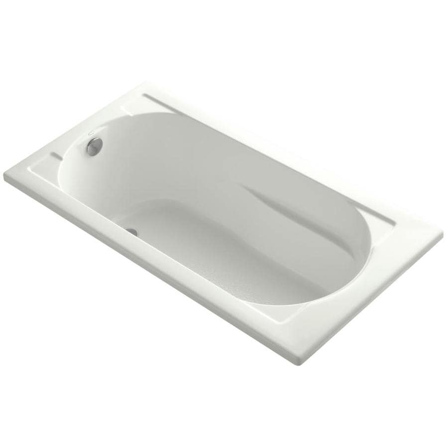 KOHLER Devonshire 60-in Dune Acrylic Drop-In Bathtub with Reversible Drain