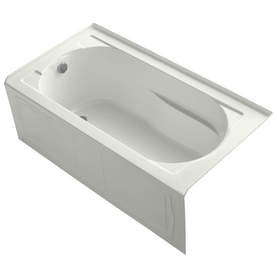 KOHLER Devonshire 60-in Dune Acrylic Bathtub with Left-Hand Drain
